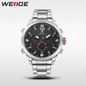 Weide Jam Tangan Analog Strap Stainless Steel - WH6303 - Silver Black