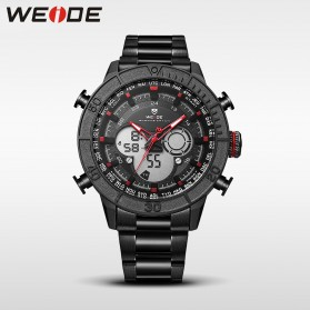 Weide Jam Tangan Digital Analog Strap Stainless Steel - WH6308 - Black/Red