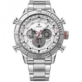 Weide Jam Tangan Digital Analog - WH6308 - White/Silver