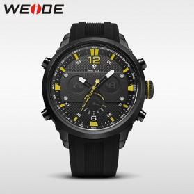Weide Jam Tangan Analog Strap Silicone - WH6303 - Black/Yellow