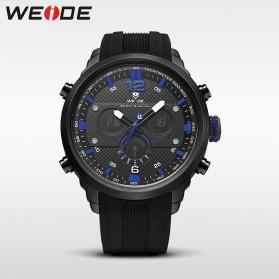 Weide Jam Tangan Analog Strap Silicone - WH6303 - Black/Blue