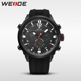 Weide Jam Tangan Analog Strap Silicone - WH6303 - Black White