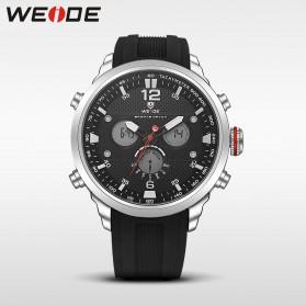 Weide Jam Tangan Analog Strap Silicone - WH6303 - Gray/Black