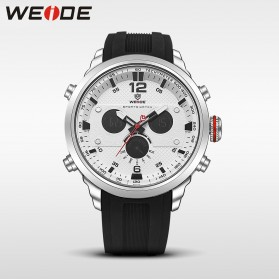 Weide Jam Tangan Analog Strap Silicone - WH6303 - Gray Silver