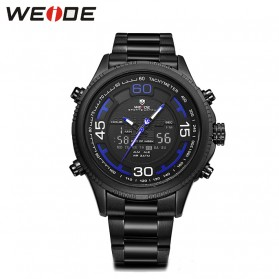 Weide Jam Tangan Analog Strap Stainless Steel - WH6306 - Black/Blue