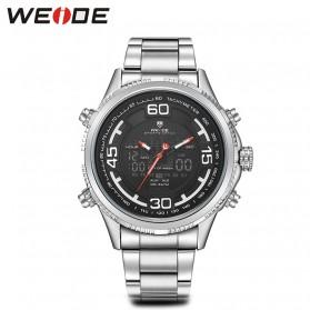 Weide Jam Tangan Analog Strap Stainless Steel - WH6306 - Black