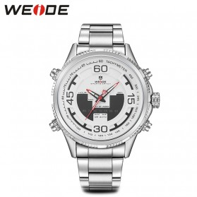 Weide Jam Tangan Analog Strap Stainless Steel - WH6306 - White