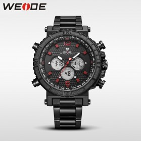 Weide Jam Tangan Digital Analog - WH6305 - Black/Red