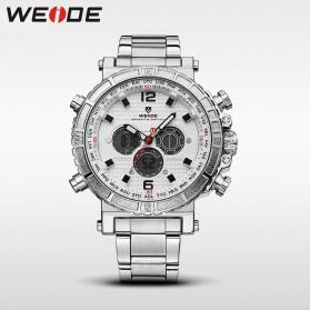 Weide Jam Tangan Digital Analog - WH6305 - White/Silver