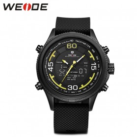 Weide Jam Tangan Analog Digital Strap Silicone - WH6306PR - Black/Yellow