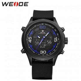Weide Jam Tangan Analog Digital Strap Silicone - WH6306PR - Black/Blue
