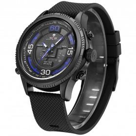 Weide Jam Tangan Analog Digital Strap Silicone - WH6306PR - Black/Blue - 3