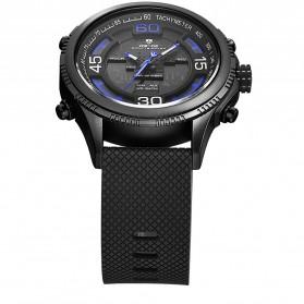 Weide Jam Tangan Analog Digital Strap Silicone - WH6306PR - Black/Blue - 5