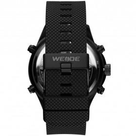 Weide Jam Tangan Analog Digital Strap Silicone - WH6306PR - Black/Blue - 6
