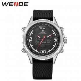 Weide Jam Tangan Analog Digital Strap Silicone - WH6306PR - Black