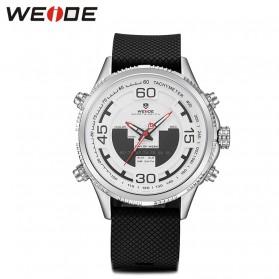 Weide Jam Tangan Analog Digital Strap Silicone - WH6306PR - White