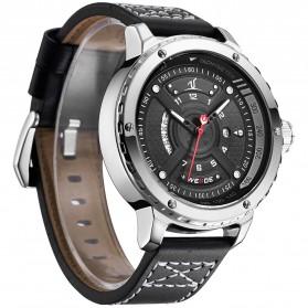 Weide Jam Tangan Sporty Pria - UV1609 - Black/Silver