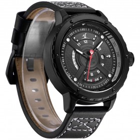 Weide Jam Tangan Sporty Pria - UV1609 - Black/Black