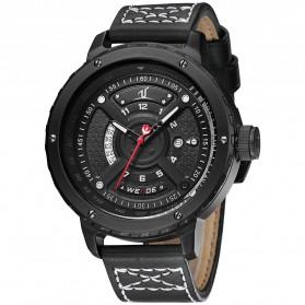 Weide Jam Tangan Sporty Pria - UV1609 - Black/Black - 3