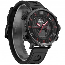 Weide Jam Tangan Analog Digital Pria - WH6106 - Black/Red