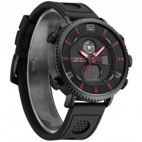 Weide Jam Tangan Analog Digital Pria - WH6106 - Black/Red - 1