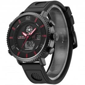Weide Jam Tangan Analog Digital Pria - WH6106 - Black/Red - 2