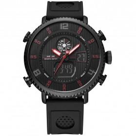 Weide Jam Tangan Analog Digital Pria - WH6106 - Black/Red - 3