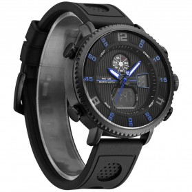 Weide Jam Tangan Analog Digital Pria - WH6106 - Black/Blue