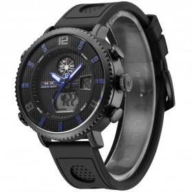 Weide Jam Tangan Analog Digital Pria - WH6106 - Black/Blue - 2