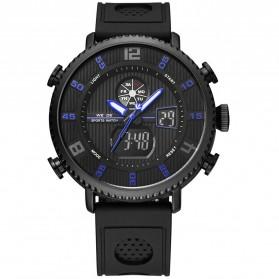 Weide Jam Tangan Analog Digital Pria - WH6106 - Black/Blue - 3