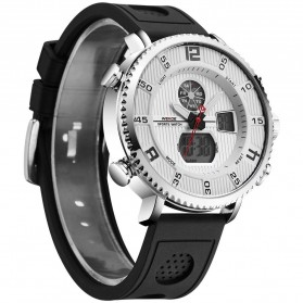 Weide Jam Tangan Analog Digital Pria - WH6106 - Black White
