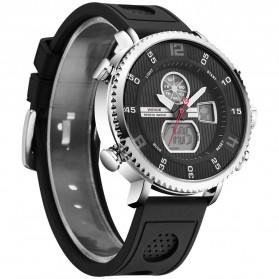 Weide Jam Tangan Analog Digital Pria - WH6106 - Black/Silver