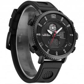 Weide Jam Tangan Analog Digital Pria - WH6106 - Black/Black