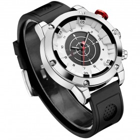 Weide Jam Tangan Analog Digital Pria - WH6301 - Black White - 1