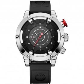 Weide Jam Tangan Analog Digital Pria - WH6301 - Black/Silver - 3