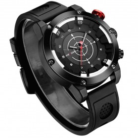 Weide Jam Tangan Analog Digital Pria - WH6301 - Black/Black
