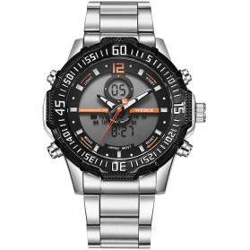 Weide Jam Tangan Pria Stainless Steel - WH6105 - Black/Orange