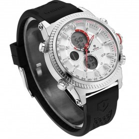 Weide Jam Tangan Analog Digital Pria - WH6403 - Black White