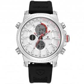 Weide Jam Tangan Analog Digital Pria - WH6403 - Black White - 3