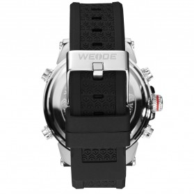 Weide Jam Tangan Analog Digital Pria - WH6403 - Black White - 4