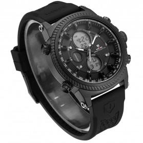 Weide Jam Tangan Analog Digital Pria - WH6403 - Black/Black
