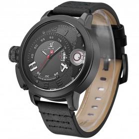 Weide Jam Tangan Sporty Pria - UV1606 - Black/Black - 2