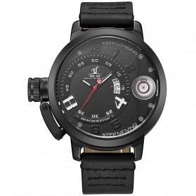 Weide Jam Tangan Sporty Pria - UV1606 - Black/Black - 3