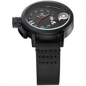 Weide Jam Tangan Sporty Pria - UV1606 - Black/Black - 5