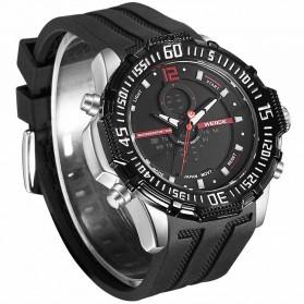 Weide Jam Tangan Pria Silicone - WH6105 - Black/Red - 2