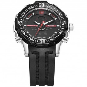 Weide Jam Tangan Pria Silicone - WH6105 - Black/Red - 3