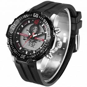 Weide Jam Tangan Pria Silicone - WH6105 - Black/Red - 4