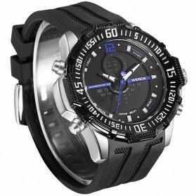 Weide Jam Tangan Pria Silicone - WH6105 - Black/Blue - 2