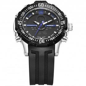 Weide Jam Tangan Pria Silicone - WH6105 - Black/Blue - 3