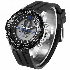 Weide Jam Tangan Pria Silicone - WH6105 - Black/Blue - 4